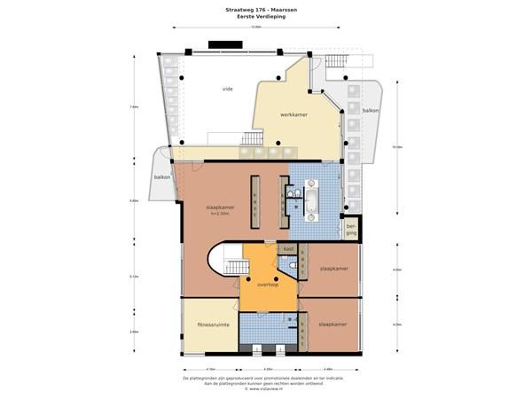 Floorplan - Straatweg 176, 3603 CT Maarssen