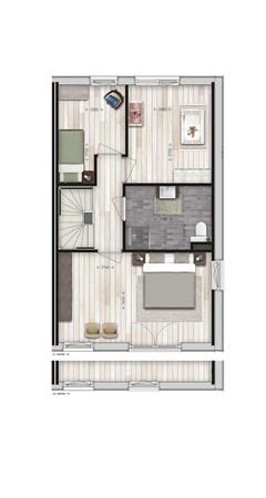 Floorplan - Parkwoning type J1 Bouwnummer 31, 6515 AE Nijmegen