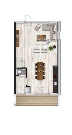 Floorplan - Parkwoning type J2 Bouwnummer 41, 6515 AE Nijmegen