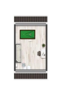 Floorplan - Tussenwoning typ L2 Bouwnummer 2, 6515 AE Nijmegen