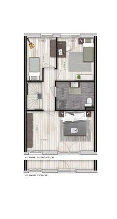Floorplan - Parkwoning XL type H1 Bouwnummer 33, 6515 AE Nijmegen