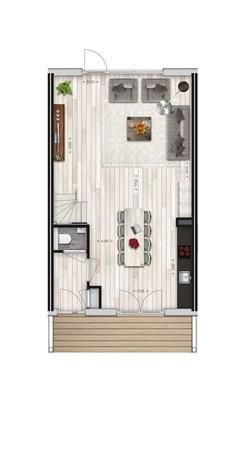 Floorplan - Parkwoning XL type H2 Bouwnummer 38, 6515 AE Nijmegen