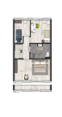 Floorplan - Parkwoning type I1 Bouwnummer 25, 6515 AE Nijmegen