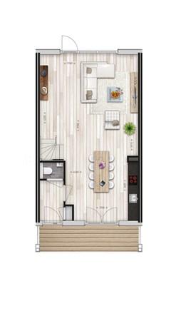 Floorplan - Griftdijk Bouwnummer 27, 6515 AE Nijmegen