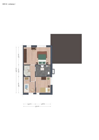 Floorplan - Bouwnummer 23, 6663 KS Nijmegen