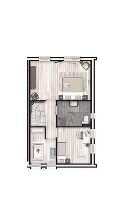 Floorplan - Hoekwoning dwarskap - type A Bouwnummer 1, 6515 AE Nijmegen