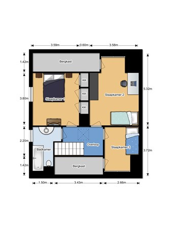 Floorplan - De Vissert 4a, 5855 EL Well L