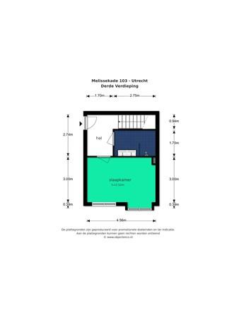 Floorplan - Melissekade 103, 3544 CV Utrecht