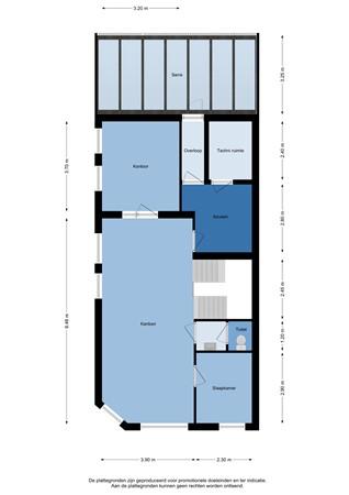 Floorplan - Scheldestraat 59, 4382 LX Vlissingen