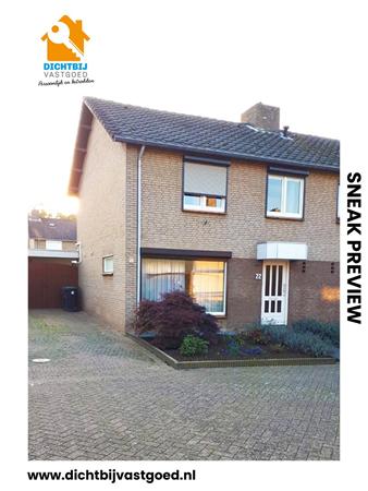 Te koop: Twee onder één kap woning met garage in een rustige en kindvriendelijke buurt in Beek.