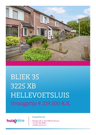 Brochure preview - Bliek 35, 3225 XB HELLEVOETSLUIS (1)