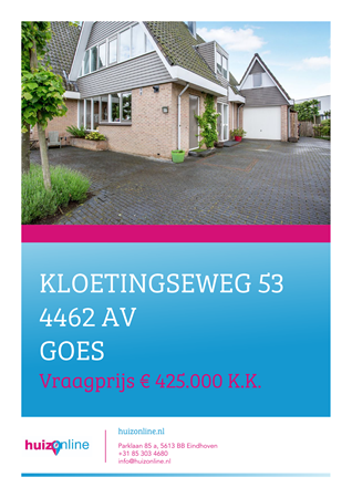 Brochure preview - Kloetingseweg 53, 4462 AV GOES (1)