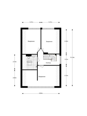 Floorplan - Kloetingseweg 53, 4462 AV Goes