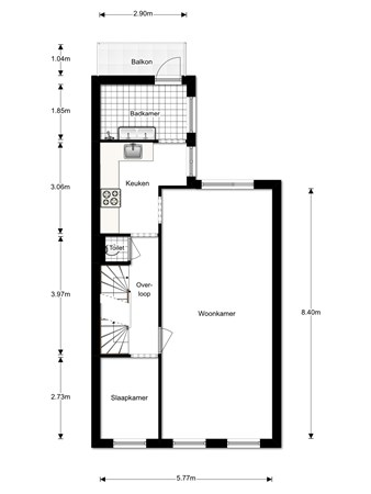 Floorplan - Kenaustraat 69, 2581 TX Den Haag