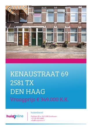 Brochure preview - Kenaustraat 69, 2581 TX DEN HAAG (1)