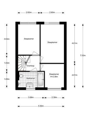 Floorplan - Derde Donk 34, 5233 XG 's-Hertogenbosch