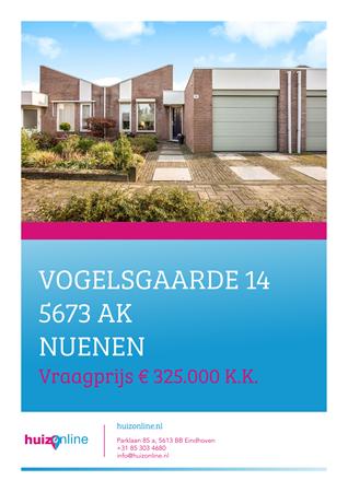Brochure preview - Vogelsgaarde 14, 5673 AK NUENEN (1)