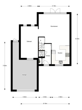 Floorplan - Ronnie Biermanstraat 20, 3207 WD Spijkenisse