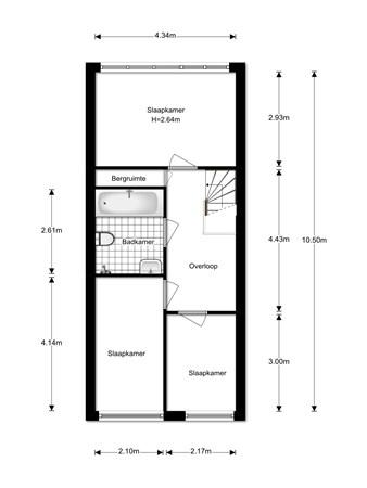 Floorplan - Dongelaan 19, 5463 JN Veghel