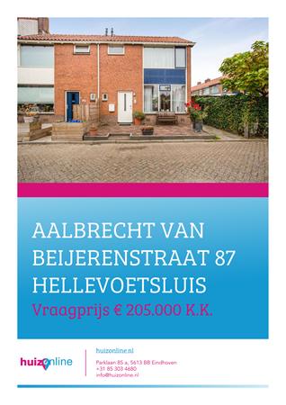 Brochure preview - Aalbrecht van Beijerenstraat 87, 3222 CA HELLEVOETSLUIS (1)