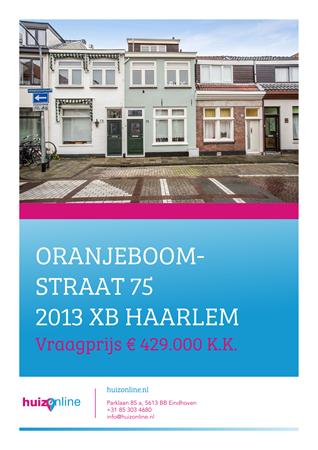 Brochure preview - Oranjeboomstraat 75, 2013 XB HAARLEM (1)