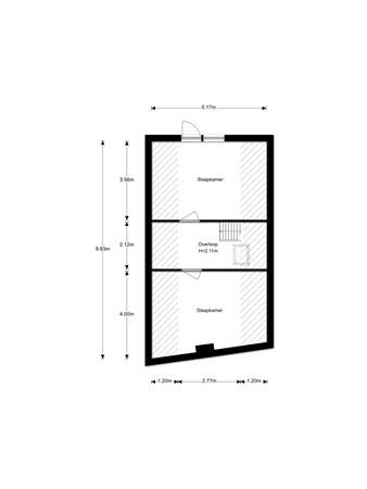 Floorplan - Hendrik Westerstraat 226, 9665 AX Oude Pekela