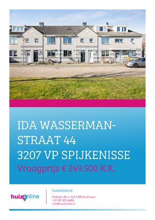 Brochure preview - Ida Wassermanstraat 44, 3207 VP SPIJKENISSE (1)