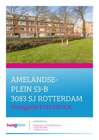 Brochure preview - Amelandseplein 53-b, 3083 SJ ROTTERDAM (1)
