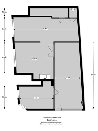Floorplan - Rollandstraat 55, 2013 SM Haarlem