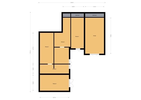 Floorplan - Rijksweg 72a, 4255 GM Nieuwendijk