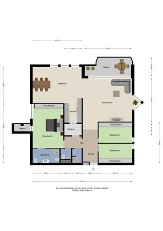 Floorplan - Scottlaan, 5623 RE Eindhoven