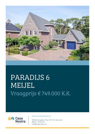 Brochure - Paradijs 6, 5768 GZ MEIJEL (1) - Paradijs 6, 5768 GZ Meijel