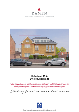 Brochure preview - Holzstraat 13-A, 6461 HK KERKRADE (1)