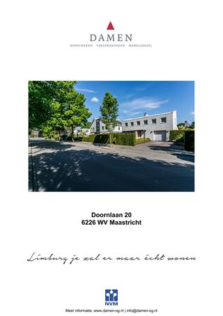 Brochure preview - Doornlaan 20, 6226 WV MAASTRICHT (1)