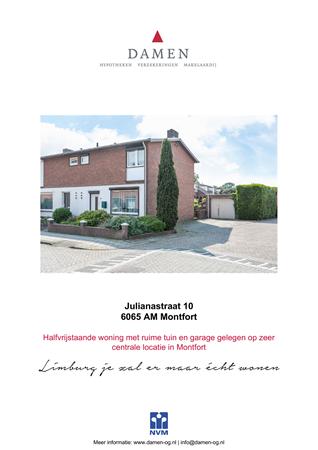 Brochure preview - Julianastraat 10, 6065 AM MONTFORT (1)