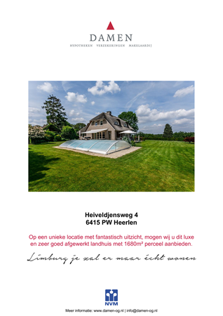 Brochure preview - Heiveldjensweg 4, 6415 PW HEERLEN (1)