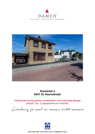 Brochure preview - Koestraat 3, 6431 XL HOENSBROEK (1)