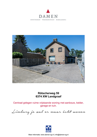 Brochure preview - Rötscherweg 59, 6374 XW LANDGRAAF (1)