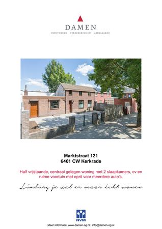 Brochure preview - Marktstraat 121, 6461 CW KERKRADE (1)