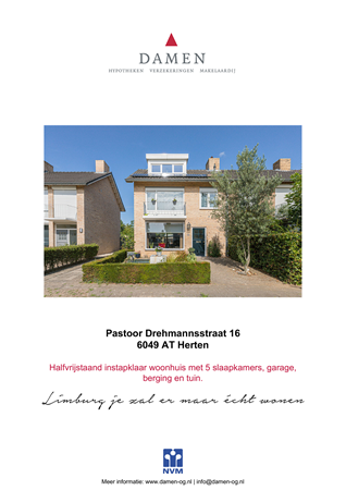 Brochure preview - Pastoor Drehmannsstraat 16, 6049 AT HERTEN (1)
