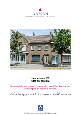 Brochure preview - Heerlerbaan 185, 6418 CD HEERLEN (1)