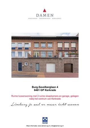 Brochure preview - Burg.Savelberglaan 4, 6461 GP KERKRADE (1)