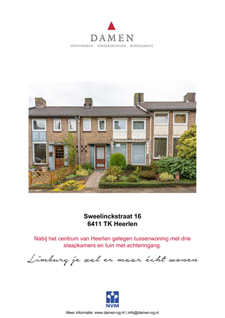 Brochure preview - Sweelinckstraat 16, 6411 TK HEERLEN (1)