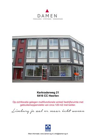 Brochure preview - Kerkraderweg 21, 6416 CC HEERLEN (1)