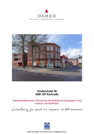 Brochure preview - Einderstraat 58, 6461 EP KERKRADE (1)