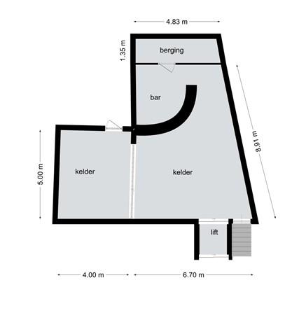 Floorplan - Kerkstraat 5A, B, 6121 LA Born