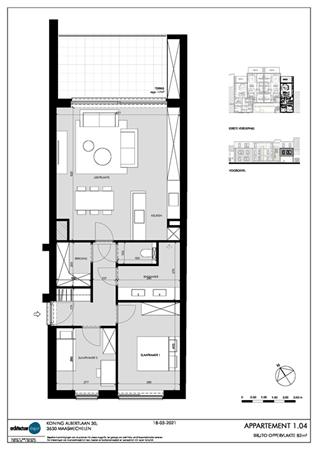 Floorplan - Koning Albertlaan 30-1.04, 3630 Maasmechelen