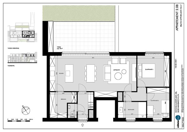 Floorplan - Koning Albertlaan 30-2.08, 3630 Maasmechelen