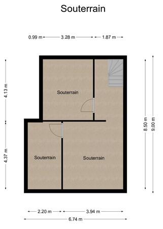 Floorplan - Veldhofstraat 51-51a, 6471 CD Eygelshoven