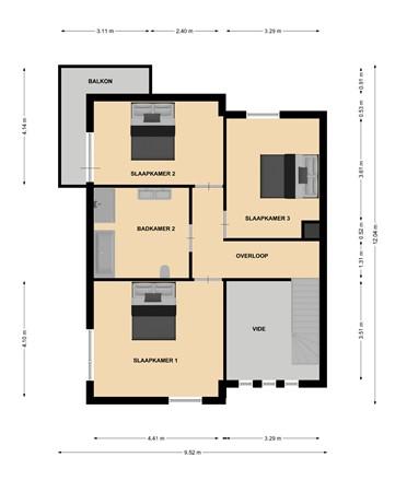 Floorplan - Laurastraat 35, 6471 JH Eygelshoven
